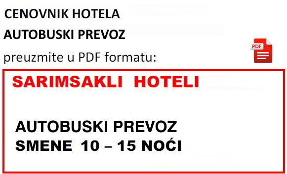 Letovanje Turska Sarimsakli Hoteli 2020 Paket Aranžman