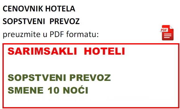 Letovanje Turska Sarimsakli Hoteli 2020 Sopstveni Prevoz
