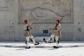 Trg Sintagma -  straža Evzona